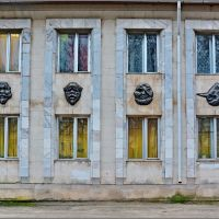 Вязьма. Боковая стена ДК, Вязьма
