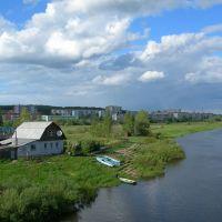 Вид на микрорайон со старого моста, Дорогобуж