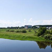 Вид на город Дорогобуж с моста через Днепр, Дорогобуж