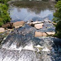 Водопад на реке Десна после плотины в Ельне, Ельня