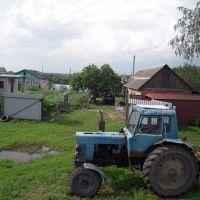 Трактор в пос. Красный, Красный