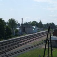 Вид на ж/д вокзал с виадука, Починок