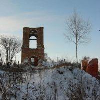 Руины Воскресенского храма., Рославль
