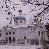 Храм Рождества Христова (2000-2009), а рядом строящаяся звонница..., Сафоново
