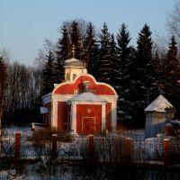 Cerkiew przy wjeździe do Syczewki. 27.01.2010., Сычевка