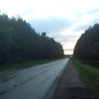 Дорога после въезда в Сычёвку, Сычевка