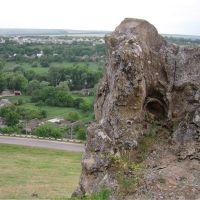 Панорама села со скалы Лягушка, Александровское