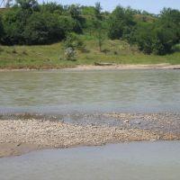 River Kuban near Kochybeevskoe, Кочубеевское