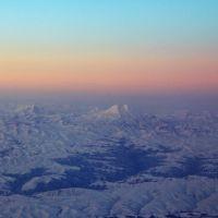 Вид на Эльбрус из самолета, Минеральные Воды