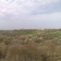 Вид с Куры на церковь, Новопавловск