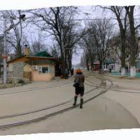 Панорама развязки трамвайных путей., Пятигорск