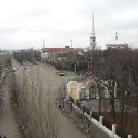 площадь Мичурина осенью, Мичуринск