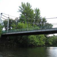 Пешеходный мост к дому Мичурина, Мичуринск