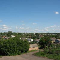 Мордово - Вид с моста через железную дорогу, Мордово