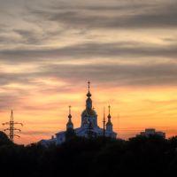 Вид на храм на закате, Тамбов