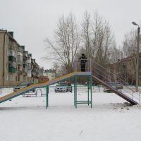 Зимний двор города Азнакаево, Республика Татарстан, Азнакаево