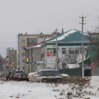зимняя улица Азакаево, Татарстан, Азнакаево