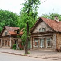 Houses on Ulyanova-Lenina street, Апастово