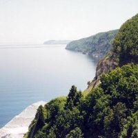 правый берег, вид сверху / right cliff, top view, Апастово