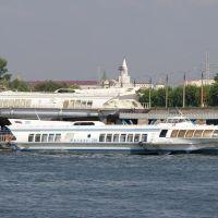 """Суда на подводных крыльях """"Метеор-209"""" и """"Метеор-219"""" в речном порту / The hydrofoils """"Meteor-209"""" and """"Meteor-219"""" in the river port (18/08/2007), Брежнев"""