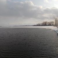 вид на пляж и лодочную станцию, Заинск