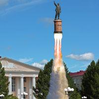 """*** Он сказал - """"Поехали!"""", и махнул рукой....   =)  ***, Лениногорск"""