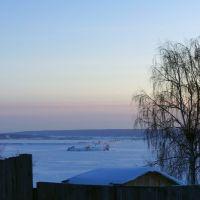 Зимний вид на Каму, Менделеевск