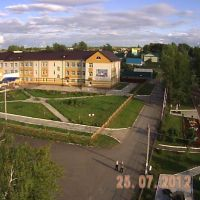 Старое Дрожжаное. Школа №1 и парк. Вид с авиамодели., Старое Дрожжаное