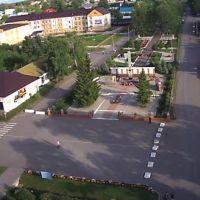 Старое Дрожжаное. Центральная площадь и парк. Вид с авиамодели., Старое Дрожжаное