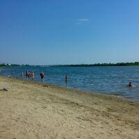 Пляж в Северске(Дельфин), вид в сторону Томска, Северск