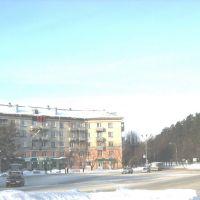 Площадь Ленина от гастронома, 2008 год, Северск