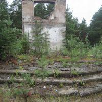 Крыльцо бывшего Дома культуры, Катайга