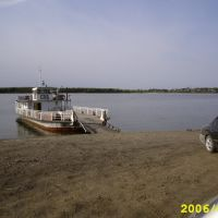 ferry(boat) over river Ob in Kolpashevo, Колпашево