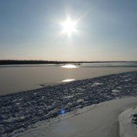 Первый день, как замёрзла Обь, Колпашево