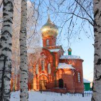 Православный храм,село Парабель,Parabel`,Томская область,Orthodox church, the village Parabel, Parabel `, Tomsk Oblast, Парабель