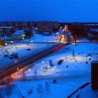 winter evening, Стрежевой