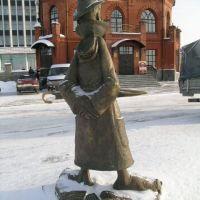 monumento al A. Cxehov flanke de dorso, Томск
