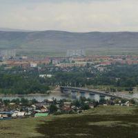 Панорама г.Кызыл со смотровой площадки (август 2009г.), Бай Хаак