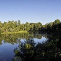 Кызыл. Вид на озеро-старицу в парке, Суть-Холь