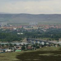 Панорама г.Кызыл со смотровой площадки (август 2009г.), Хову-Аксы