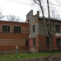 Редакция местной газеты. Здание повреждено в результате взрыва., Алексин