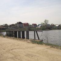Тула. Барсуковский карьер. Мост через озерную протоку. 02/05/2010г., Барсуки