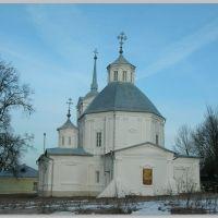 Крещенское небо (церковь д.Велегож).Kreshchenskoe the sky (church d. Velegozh)., Велегож