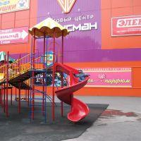 """Детская площадка возле ТЦ """"Талисман"""" лето 2011, Кимовск"""