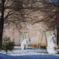 Детская площадка в районном городе Одоев., Одоев