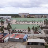 Blick auf das Krankenhaus von Kogalym 2002, Когалым