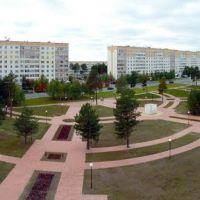 Панорама сквера перед мэрией, Когалым