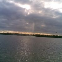 Фонтан на озере.23.09.2008, Муравленко
