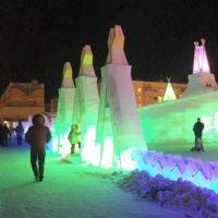 Вход в ледовый городок - НГ_2011, Муравленко