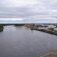 Вид на р. Казым со стрелы плавкрана ТПСК - 1, Белоярский